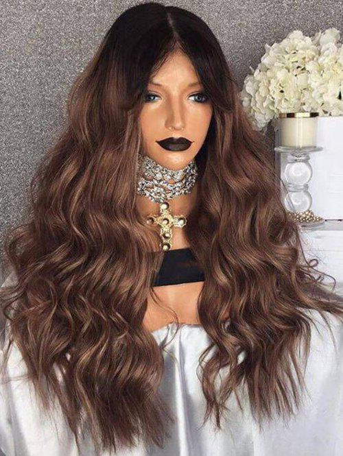 Store Long Center Parting Ombre Wavy Synthetic Wig