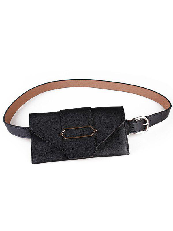 Online Fanny Pack Faux Leather Phone Card Belt Bag