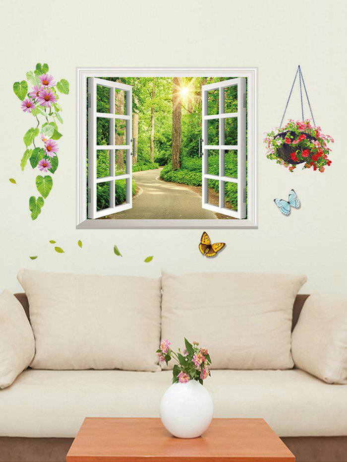 Unique Shadeway Window Print Removable Wall Sticker