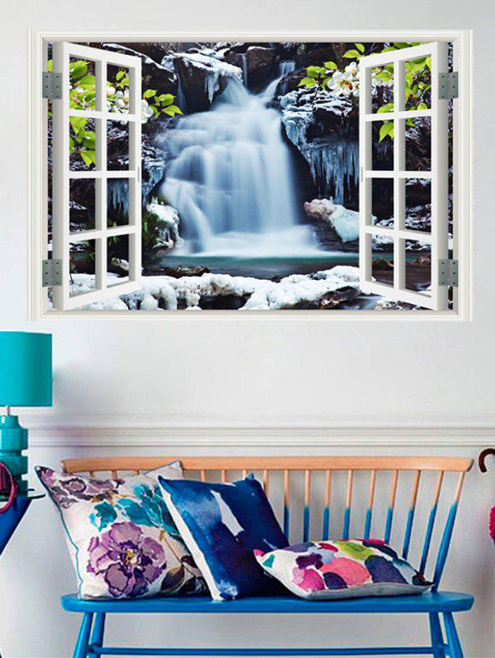 Chic Waterfalls Window Print Removable Wall Sticker