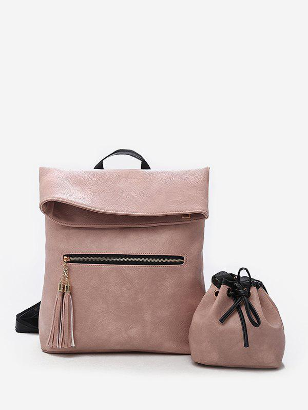 Fashion Minimalist Functional 2 Pieces Backpack Set