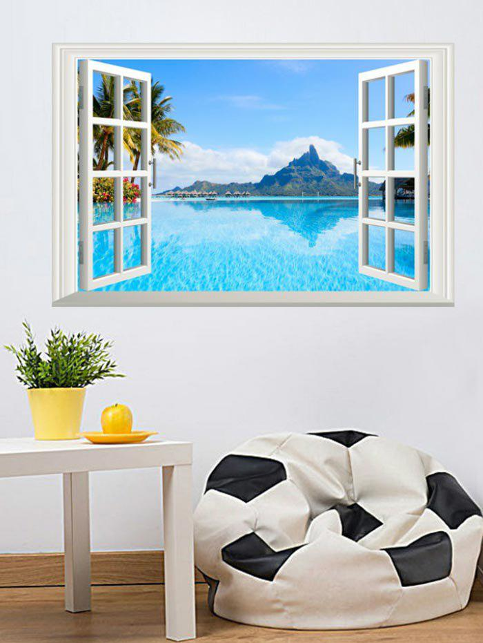 Outfit Lake Sky Window Printed Removable Wall Sticker