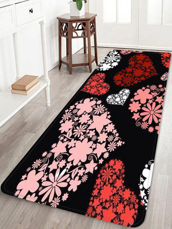 Outfit Love Heart Flower Print Soft Area Rug