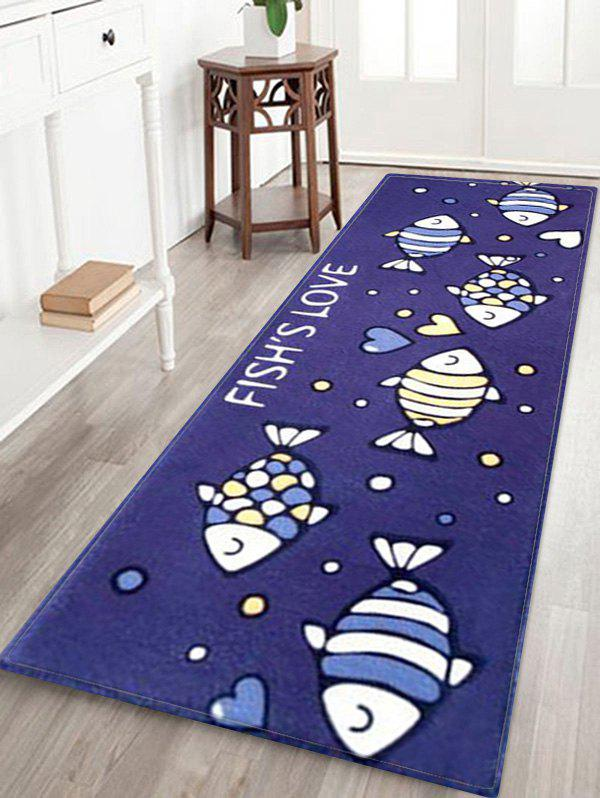 Tapis de Sol Absorbant Motif Inscriptions FISH'S LOVE