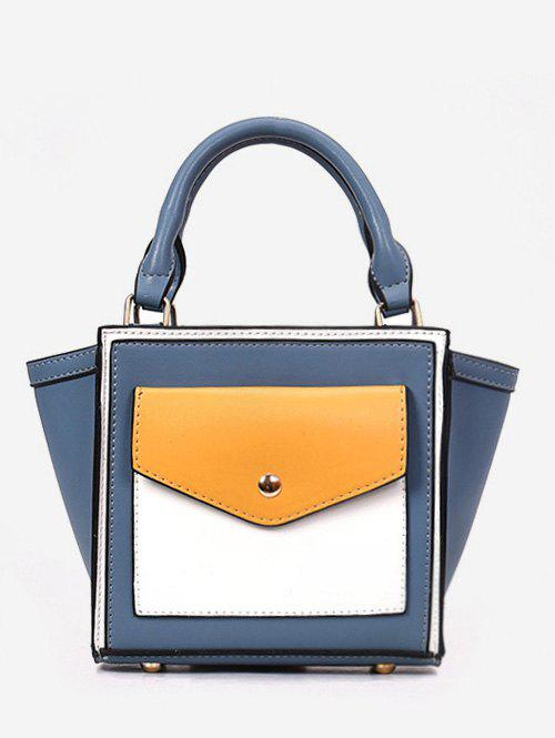 Latest Color Block Wing Shaped Tote Bag with Strap