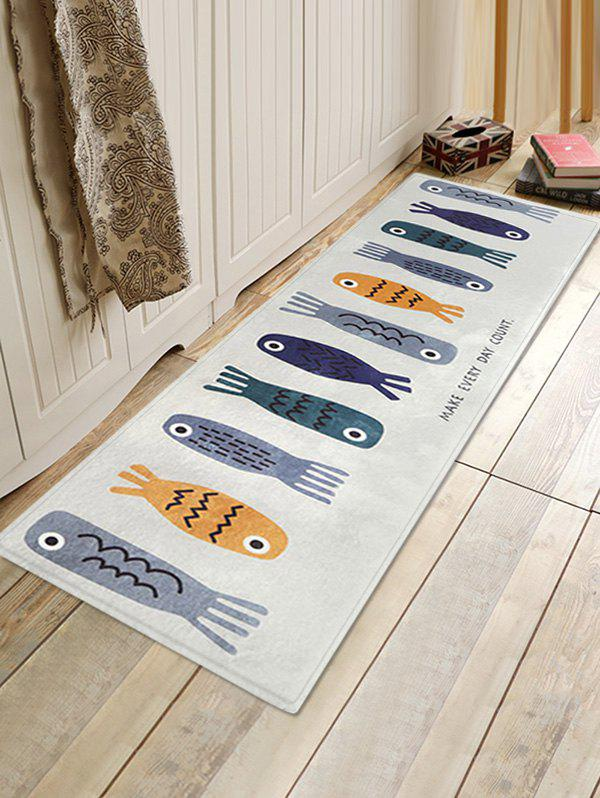Latest Cartoon Fishes Pattern Water Absorption Area Rug