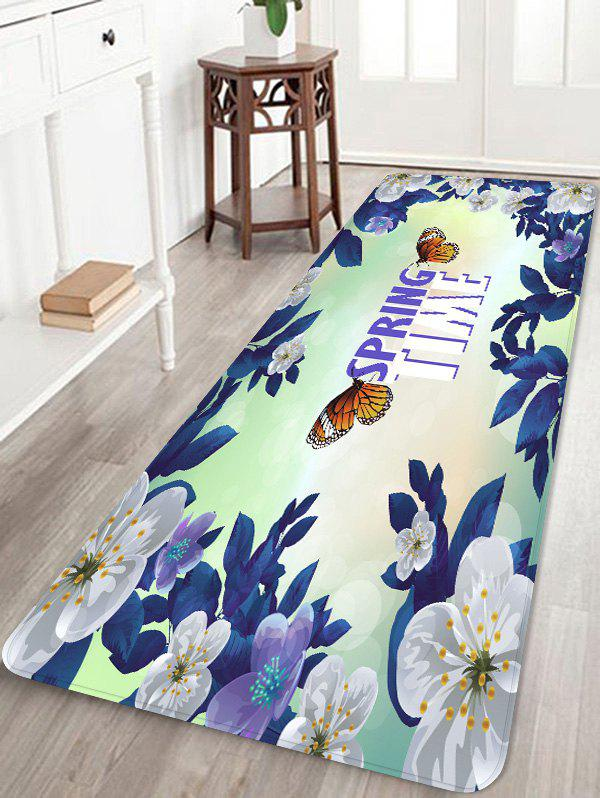 Discount Butterfly Flower Printed Soft Anti-skid Area Rug