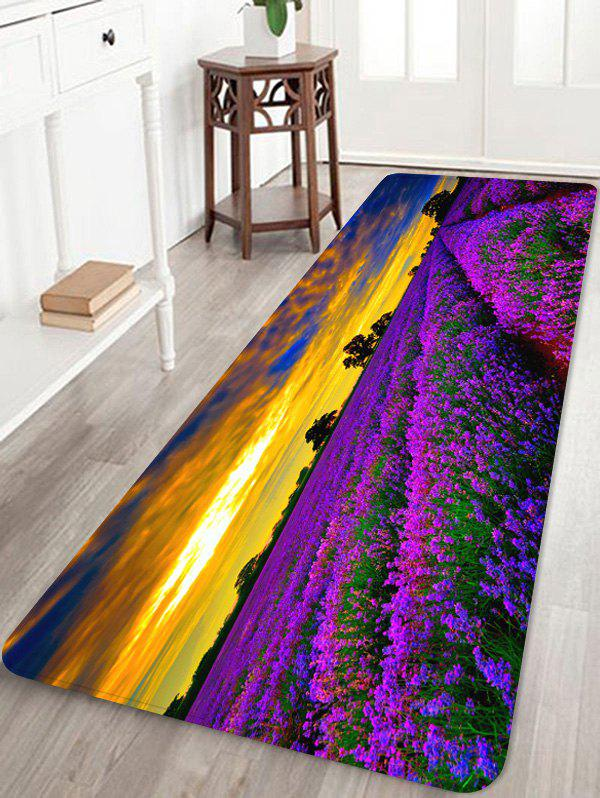 Outfits Lavender Flower Printed Soft Anti-skid Area Rug