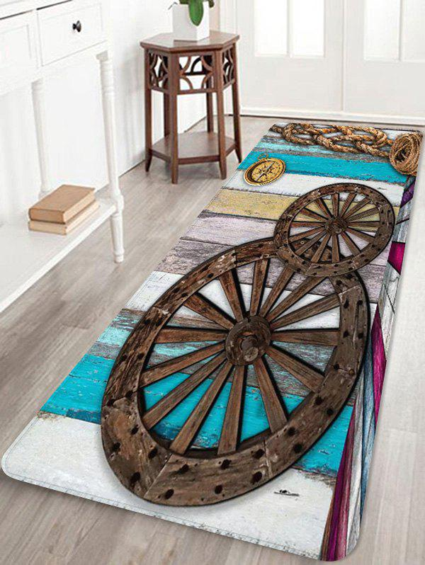 Unique Vintage Gear Printed Soft Anti-skid Area Rug