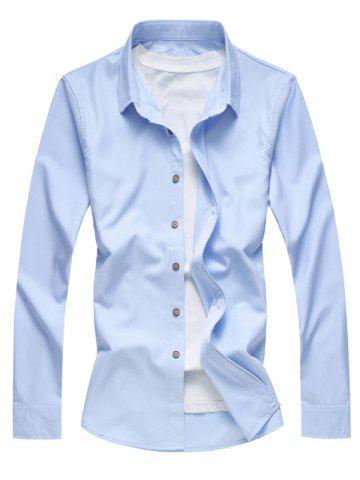 Textured Solid Button Up Casual Shirt
