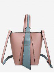 Going Out Color Block 2 Pieces Tote Bag Set -