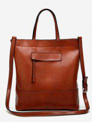 Faux Leather Chic Multi Function Tote Bag -
