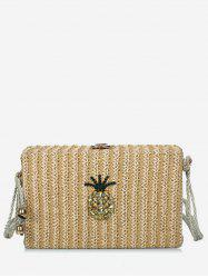 Vacation Rope Strap Pineapple Crossbody Bag -