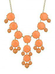Collier Pendant en Gemme Artificielle -