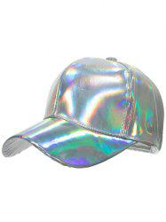 Novelty Shiny Glazed Baseball Cap -
