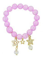 Rhinestone Inlaid Stars Beaded Bracelet -