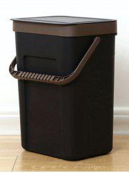 Wall-mounted Lidded Garbage Can -