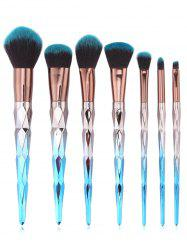 7Pcs Ultra Soft Foundation Blush Powder Travel Cosmetic Brush Set -