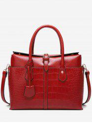 Casual Crocodile Pattern Buckled Tote Bag -