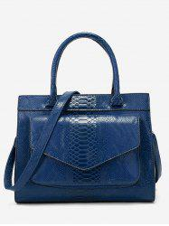 Minimalist Crocodile Pattern Tote Bag -
