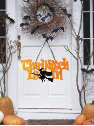 Halloween Broom Witch Wall Hanging Art Decor -