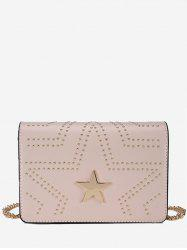 Metallic Star Studs Chic Chain Bag -