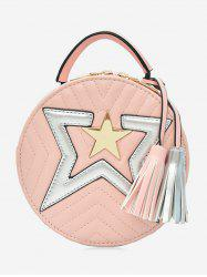 Chic Round Star Color Block Sling Bag -