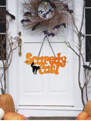 Inscription Scaredy Cat Décoration à Suspendre au Mur pour Halloween -