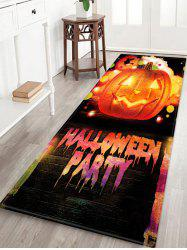 HALLOWEEN PARTY Pumpkin Pattern Water Absorption Area Rug -