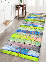 Wood Grain Forest Pattern Water Absorption Area Rug -