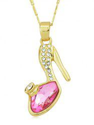 Rhinestone High Heel Shoes Shape Pendant Necklace -