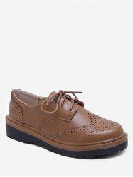 Chic Lace Up Wingtip Brogues Shoes -