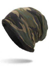Winter Camouflage Printed Thicken Beanie -