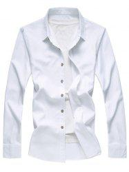 Textured Solid Button Up Casual Shirt -