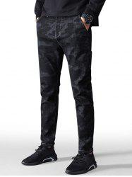 Camouflage Stretch Zip Fly Jeans -