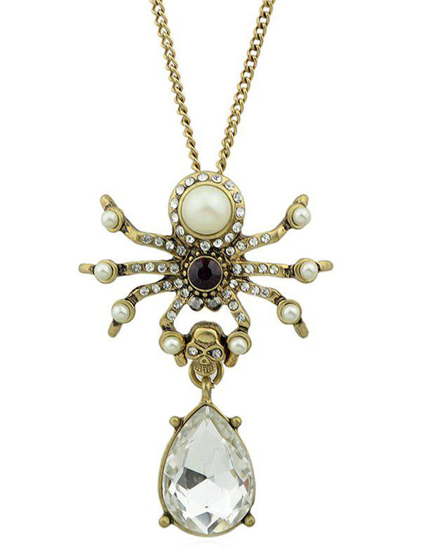 Teardrop Faux Crystal Chain Necklace
