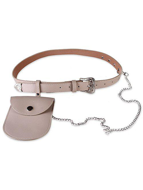 Hot Elegant Carving Floral Buckle Faux Leather Belt  Bag