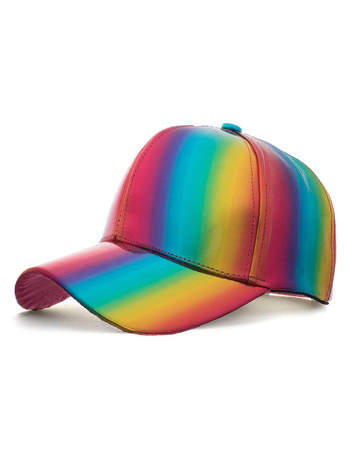 Chic Stylish Rainbow Adjustable Baseball Hat