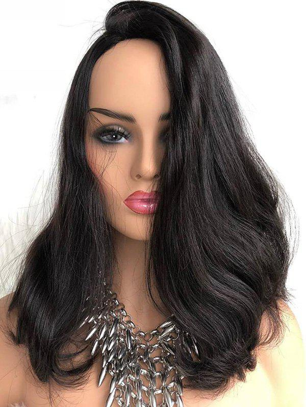 Best Inclined Bang Slightly Curly Long Lace Front Synthetic Wig