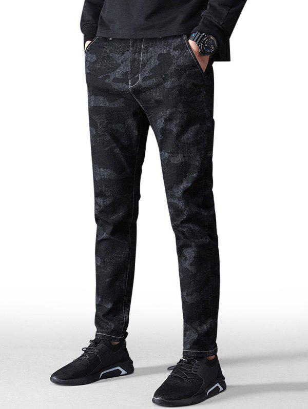 Discount Camouflage Stretch Zip Fly Jeans