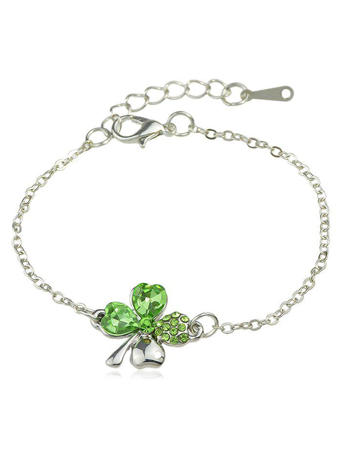 Affordable Rhinestone Inlaid Butterfly Chain Bracelet