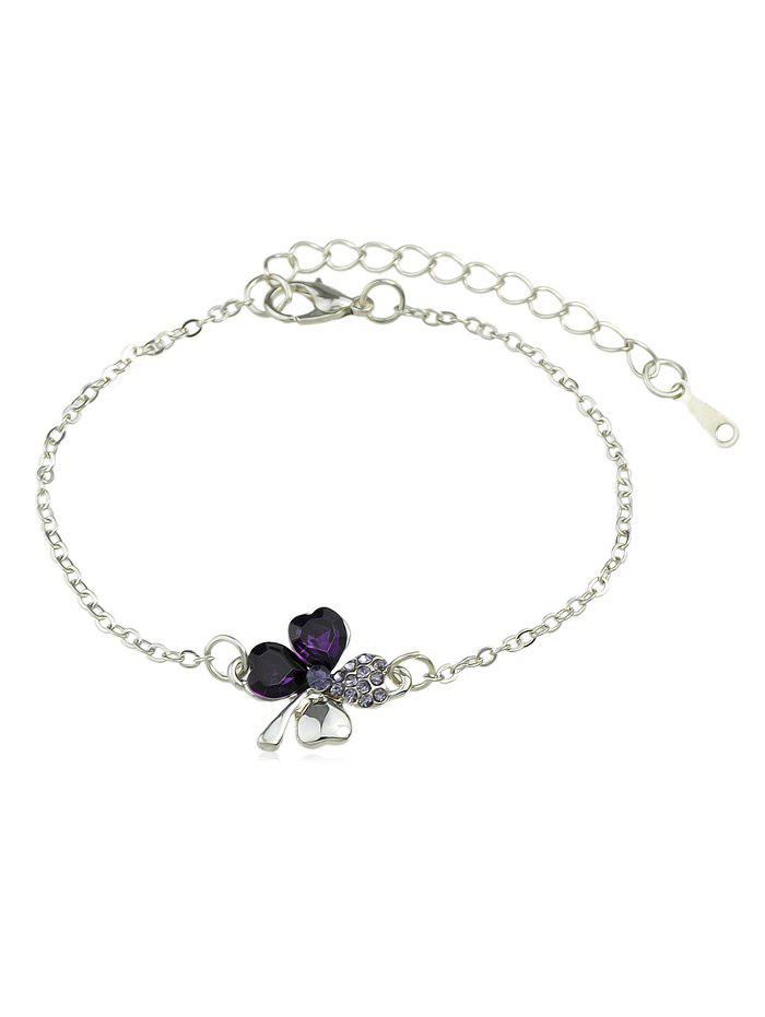 New Rhinestone Inlaid Butterfly Chain Bracelet