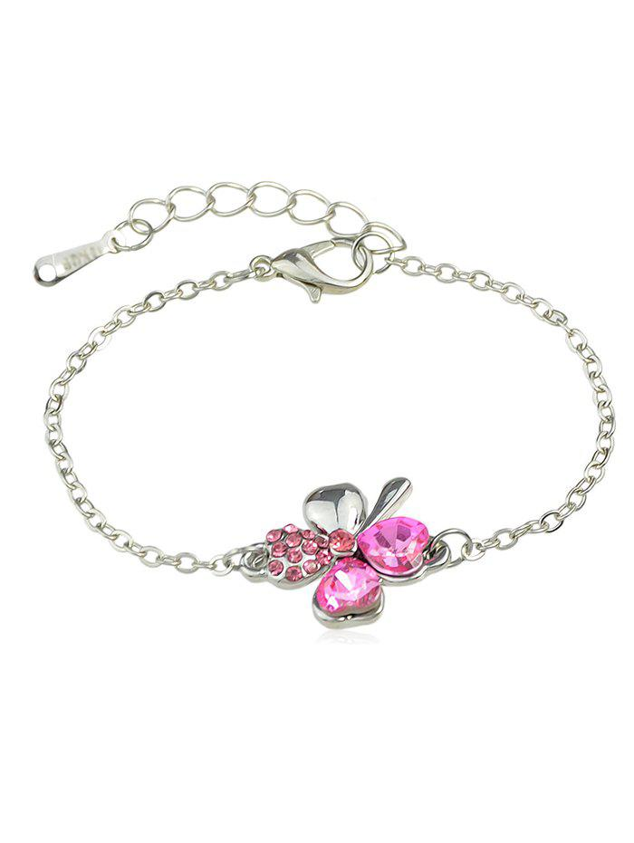 Sale Rhinestone Inlaid Butterfly Chain Bracelet
