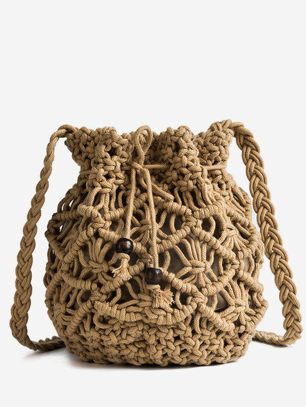 Store Holiday Hollow Out Braid Crossbody Bag