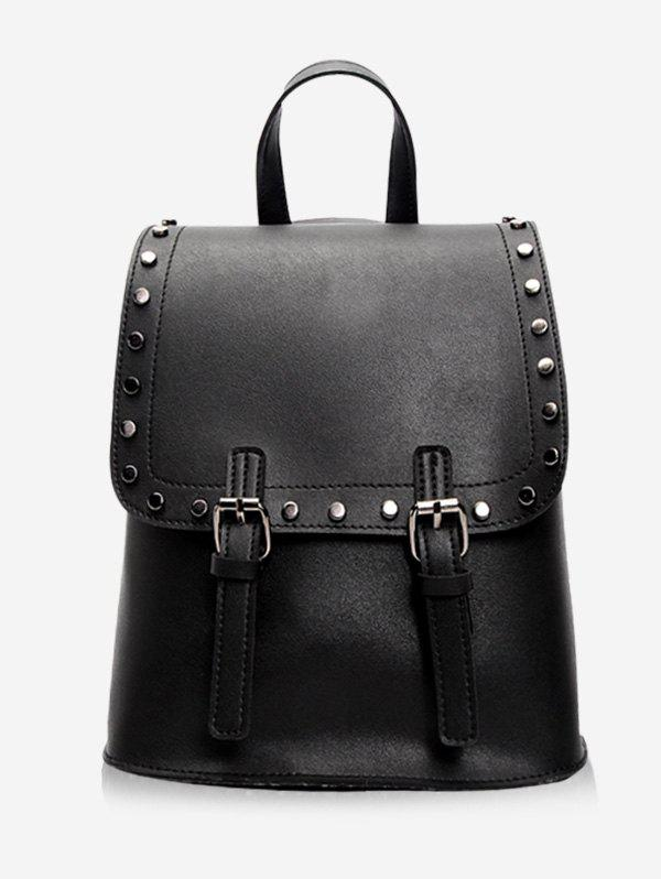Unique Leisure PU Leather Studs Buckled Backpack