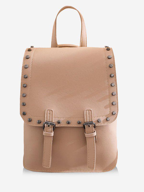 Chic Leisure PU Leather Studs Buckled Backpack
