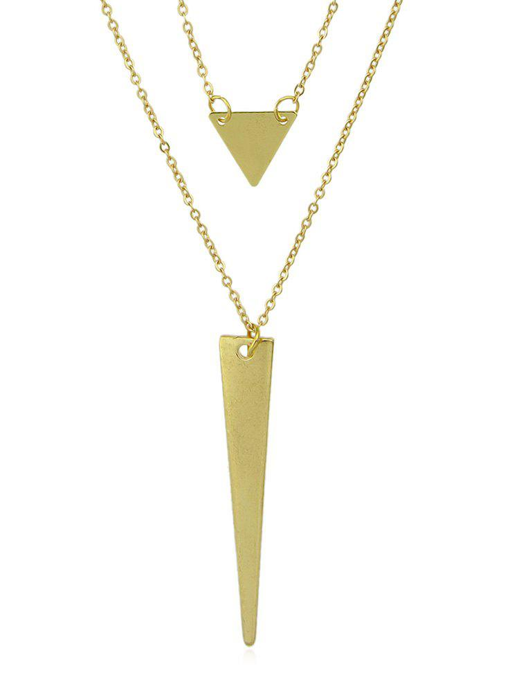 Affordable Layer Geometric Shape Chain Pendant Necklace