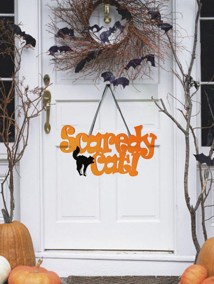 Cheap Halloween Scaredy Cat Wall Hanging Decoration