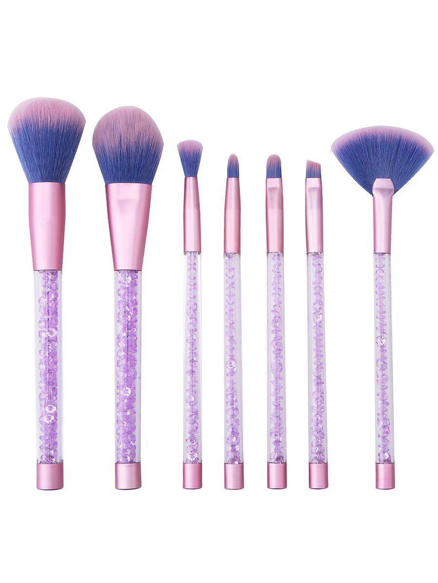 Outfits 7Pcs Crystal Handles Ultra Soft Travel Cosmetic Brush Set