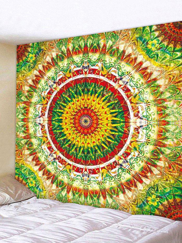 Unique Wall Hanging Art Colorful Mandala Print Tapestry